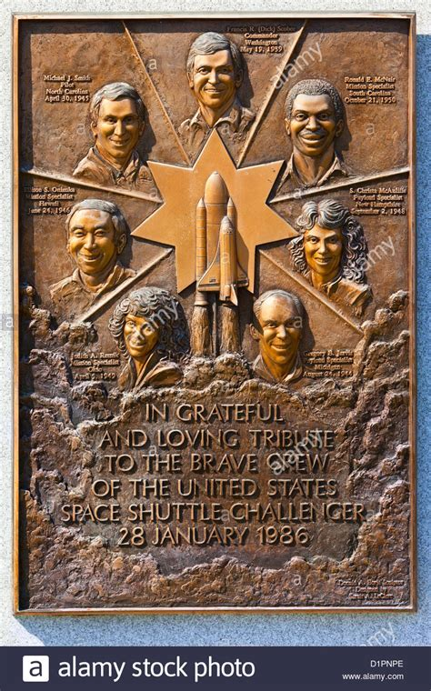 Memorial for the 7 astronauts of the Space Shuttle