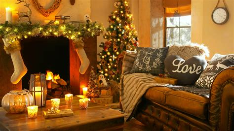Wallpaper Christmas, new year, home, light, fire, candles