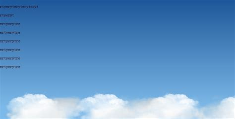 Blue sky and white clouds in the background gradient and