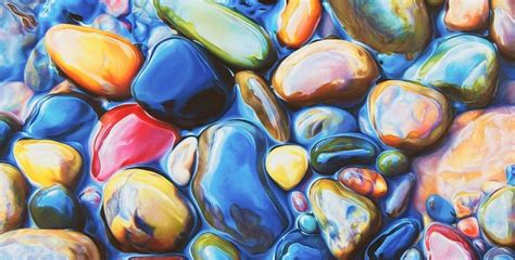 Artist Creates Photorealistic Drawings Of Wet Rocks With