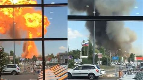 Video captures massive explosion erupting from gas station