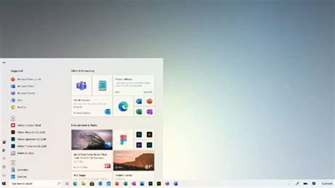 Microsoft Showcases a New Start Menu with More Fluent